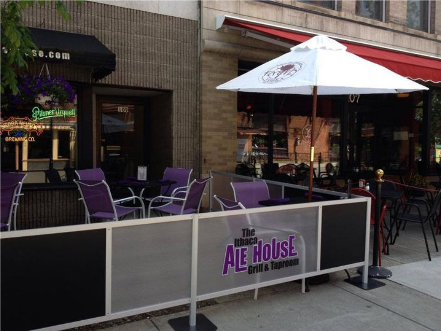 Sidewalk Barriers | Branded Cafe Barriers | Sidewalk Cafe Barricades |(8)