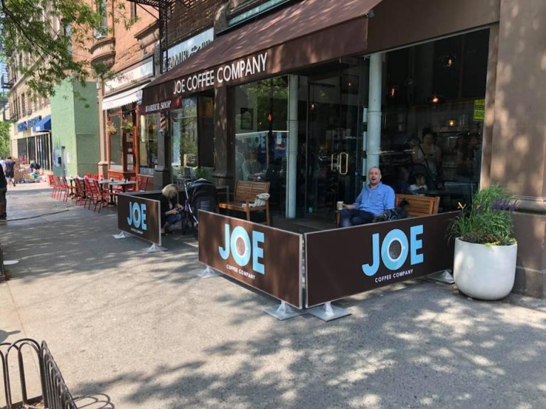 Sidewalk Cafe Barriers   New York City Signs & Awnings   Style B (1)