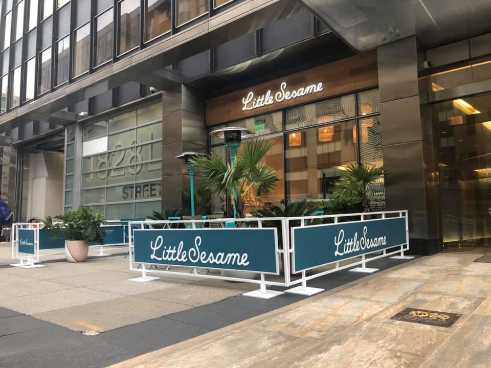 Sidewalk Cafe Barriers | New York City Signs & Awnings | Style C (4)