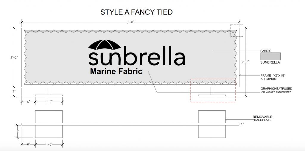 Style A Fancy Tied Cafe Barrier