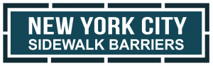 New York CIty Sidewalk Barriers