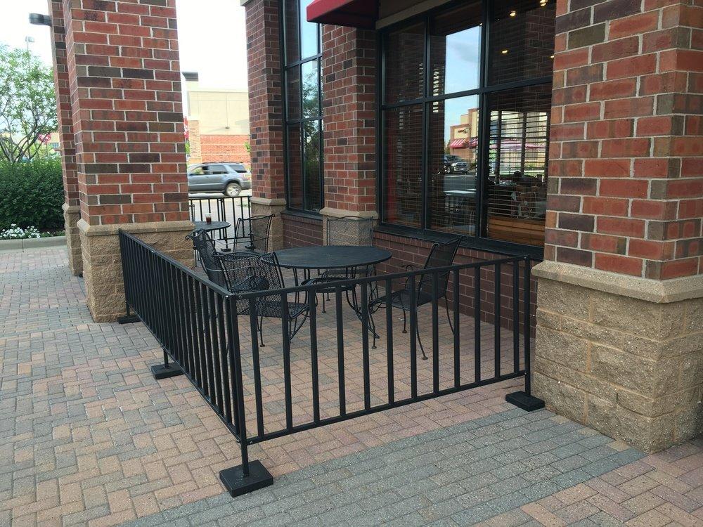 Sidewalk Cafe Barrier Style D Open Rail