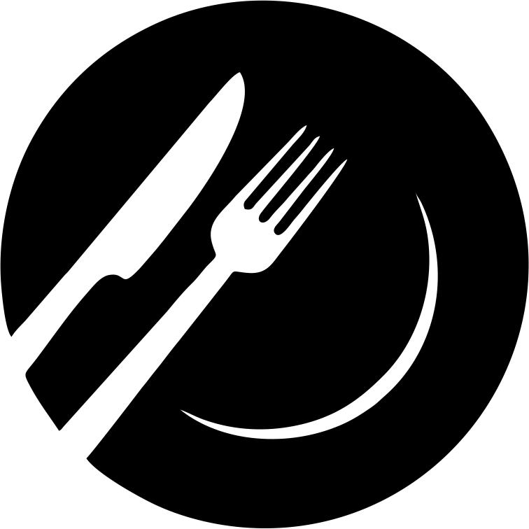 icon depicting restaurant with fork and knife