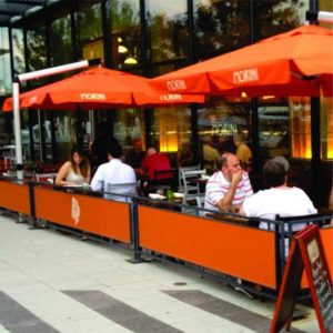 Outdoor Restaurant Cafe Fencing Barricades   New York City Sidewalk Barriers
