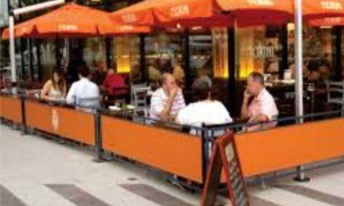 Sidewalk Barriers | Branded Cafe Barriers | Sidewalk Cafe Barricades |