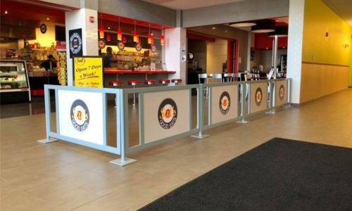 Sidewalk Barriers | Branded Cafe Barriers | Sidewalk Cafe Barricades |(1)