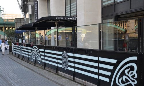 Sidewalk Barriers | Branded Cafe Barriers | Sidewalk Cafe Barricades |(10)
