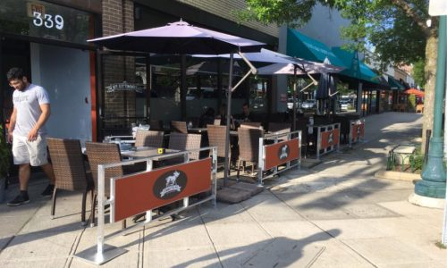 Sidewalk Barriers | Branded Cafe Barriers | Sidewalk Cafe Barricades |(11)
