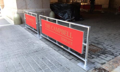 Sidewalk Barriers | Branded Cafe Barriers | Sidewalk Cafe Barricades |(12)