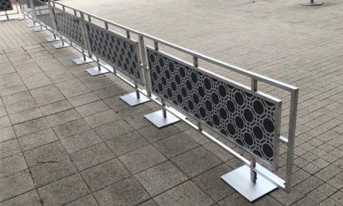 Sidewalk Barriers | Branded Cafe Barriers | Sidewalk Cafe Barricades |(14)