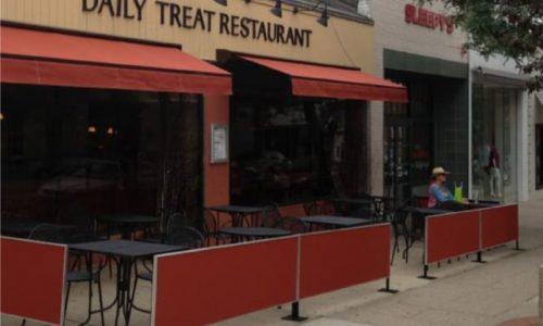 Sidewalk Barriers | Branded Cafe Barriers | Sidewalk Cafe Barricades |(17)