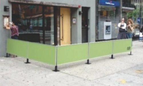 Sidewalk Barriers | Branded Cafe Barriers | Sidewalk Cafe Barricades |(19)