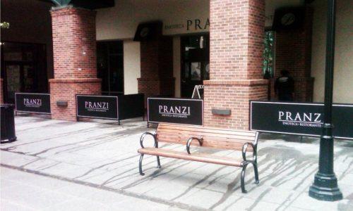 Sidewalk Barriers | Branded Cafe Barriers | Sidewalk Cafe Barricades |(5)