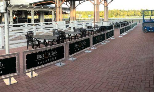 Sidewalk Barriers | Branded Cafe Barriers | Sidewalk Cafe Barricades |(6)