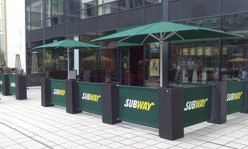 Sidewalk Barriers | Branded Cafe Barriers | Sidewalk Cafe Barricades |(9)