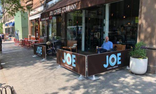 Sidewalk Barriers | Branded Cafe Barriers | Sidewalk Cafe Barricades(2)