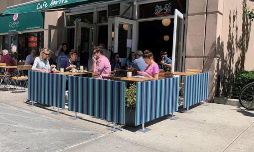 Sidewalk Barriers | Branded Cafe Barriers | Sidewalk Cafe Barricades(3)