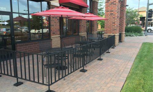 Sidewalk Barriers | Branded Cafe Barriers | Sidewalk Cafe Barricades(4)