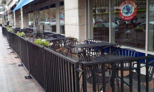 Sidewalk Barriers | Branded Cafe Barriers | Sidewalk Cafe Barricades(5)