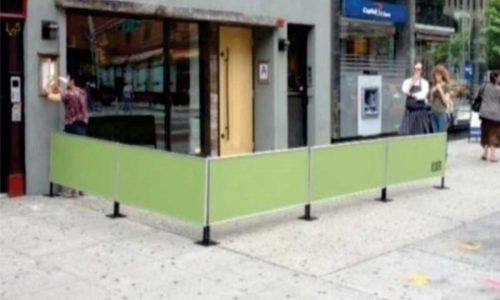 Sidewalk Cafe Barriers | New York City Signs & Awnings | Style B(4)