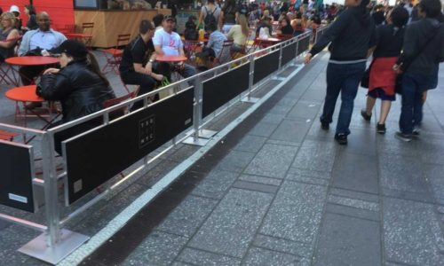 Sidewalk Cafe Barriers | New York City Signs & Awnings | Style C (1)
