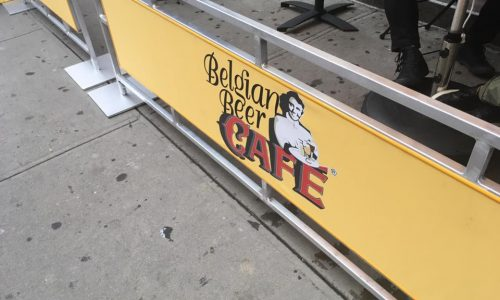 Sidewalk Cafe Barriers | New York City Signs & Awnings | Style C (2)