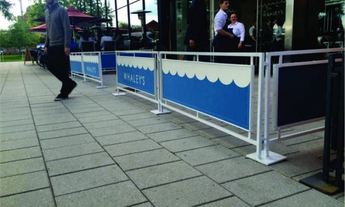 Sidewalk Cafe Barriers | New York City Signs & Awnings | Style C (3)