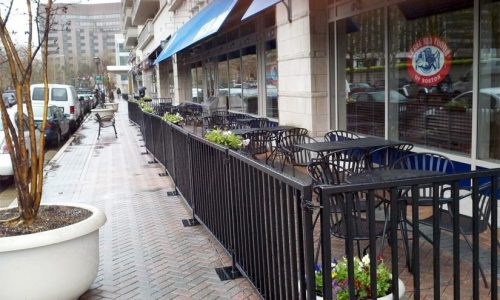 Sidewalk Cafe Barriers | New York City Signs & Awnings | Style D (2)