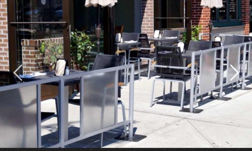 Sidewalk Cafe Barriers | New York City Signs & Awnings | Style E(2)