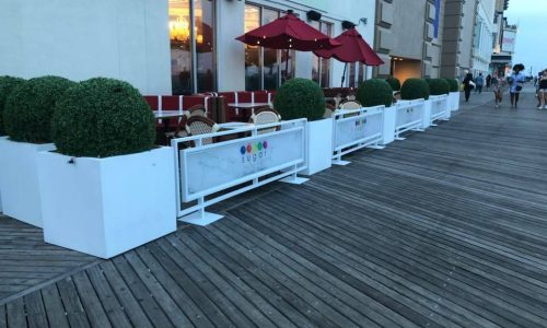 Sidewalk Cafe Barriers | New York City Signs & Awnings | Style F